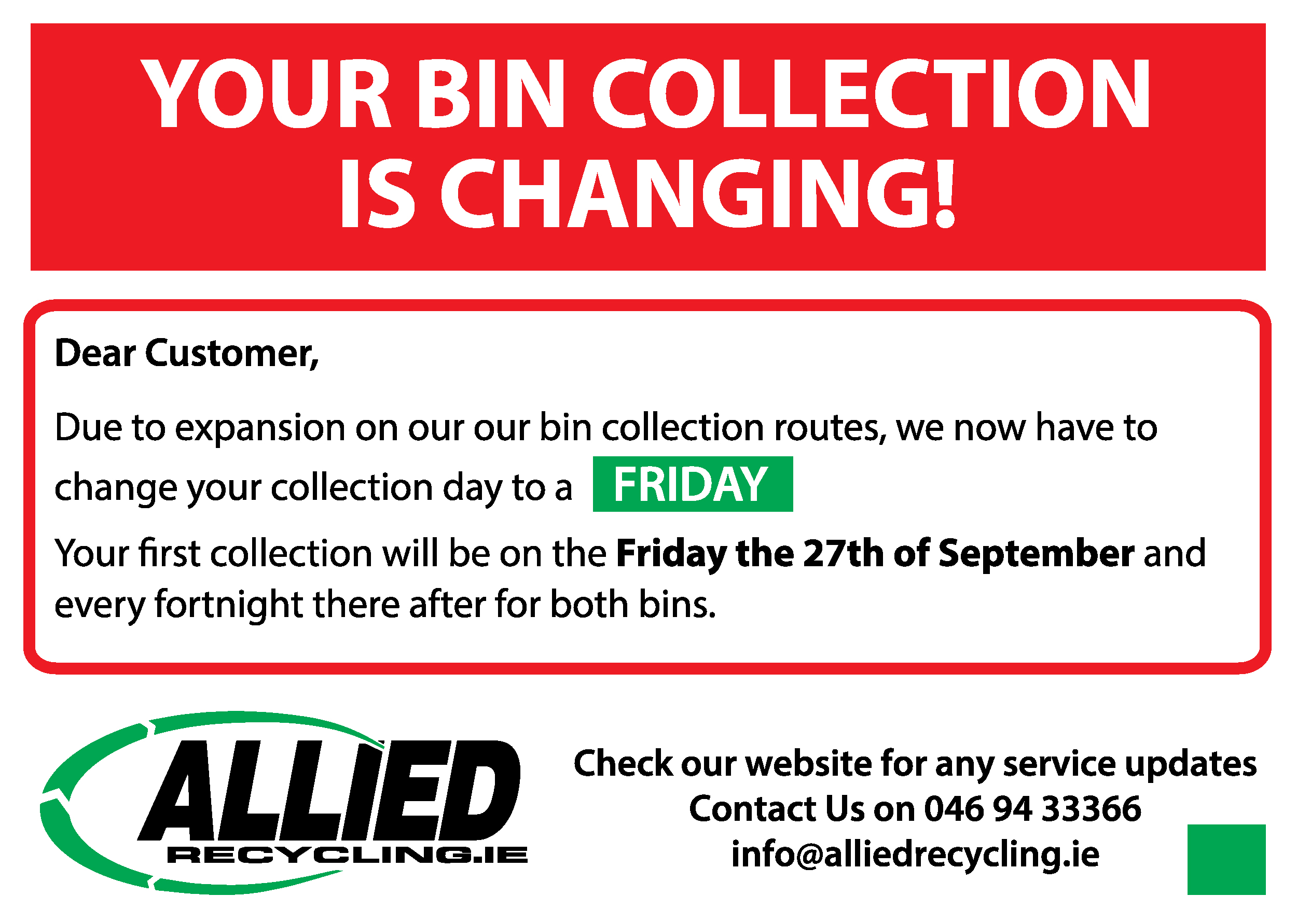 Bin Collection Friday