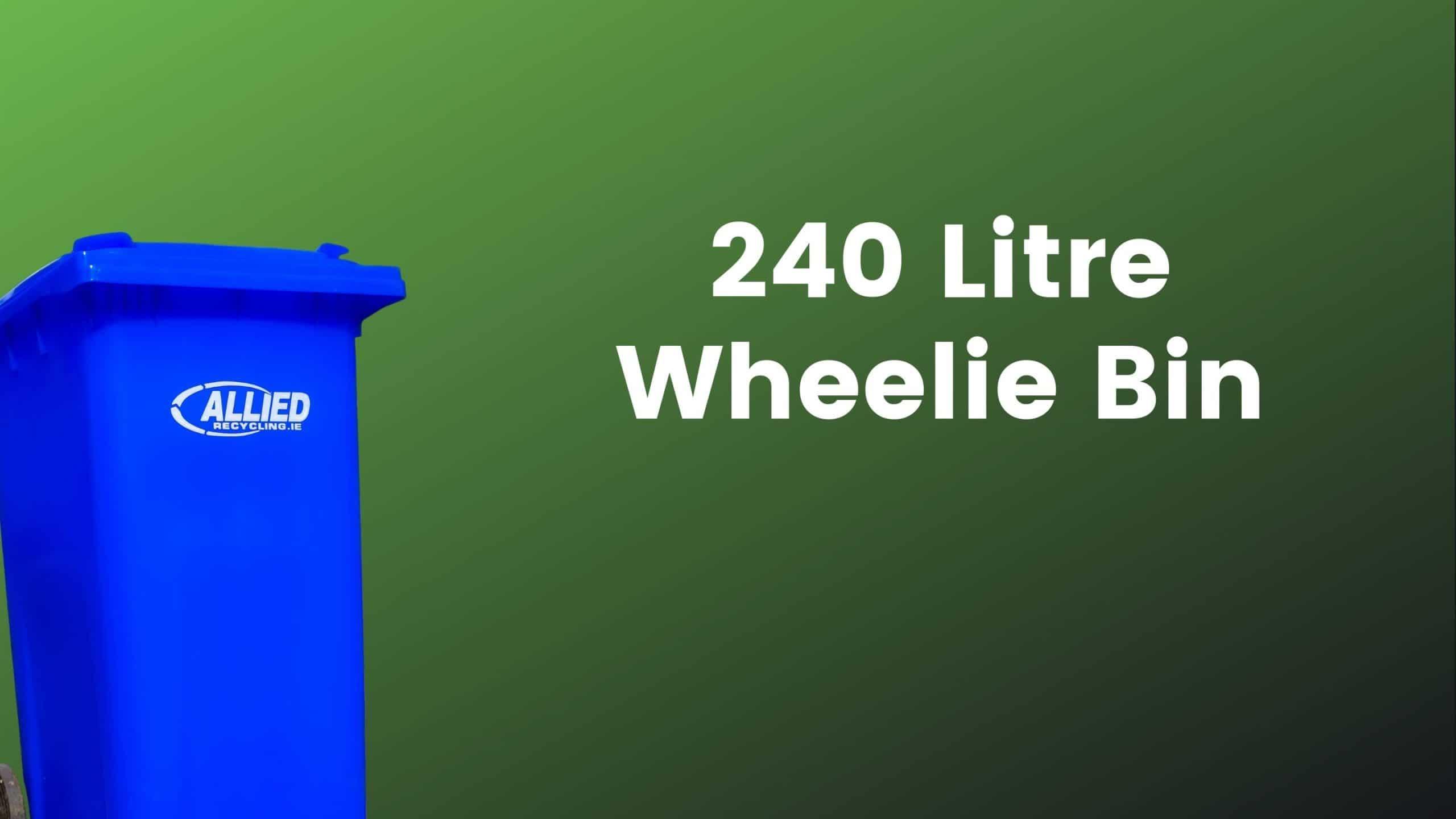 Allied 240 litre wheelie Bin