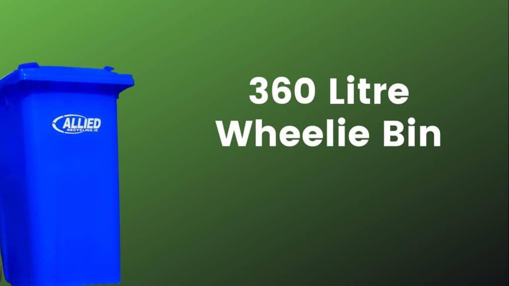 Allied 360 Litre Blue Wheelie