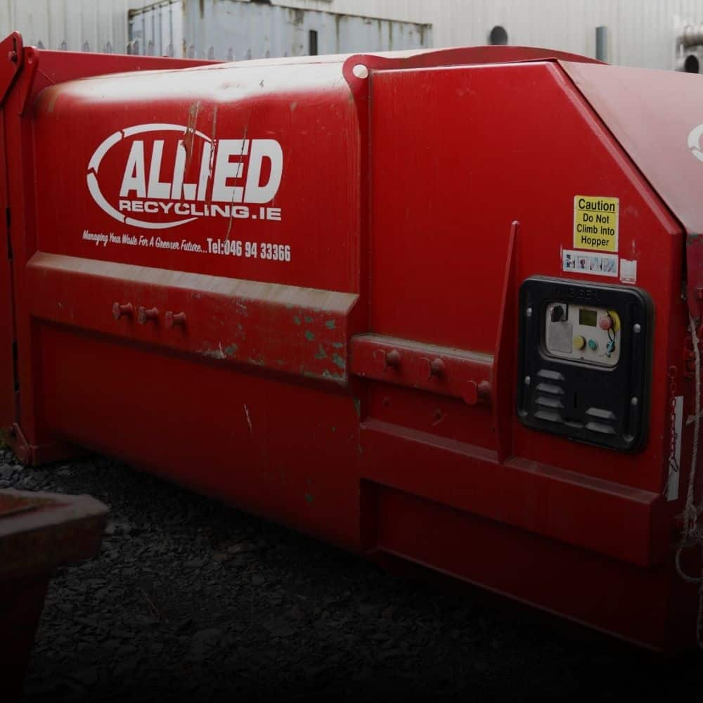 Large Red Commercial Compactor